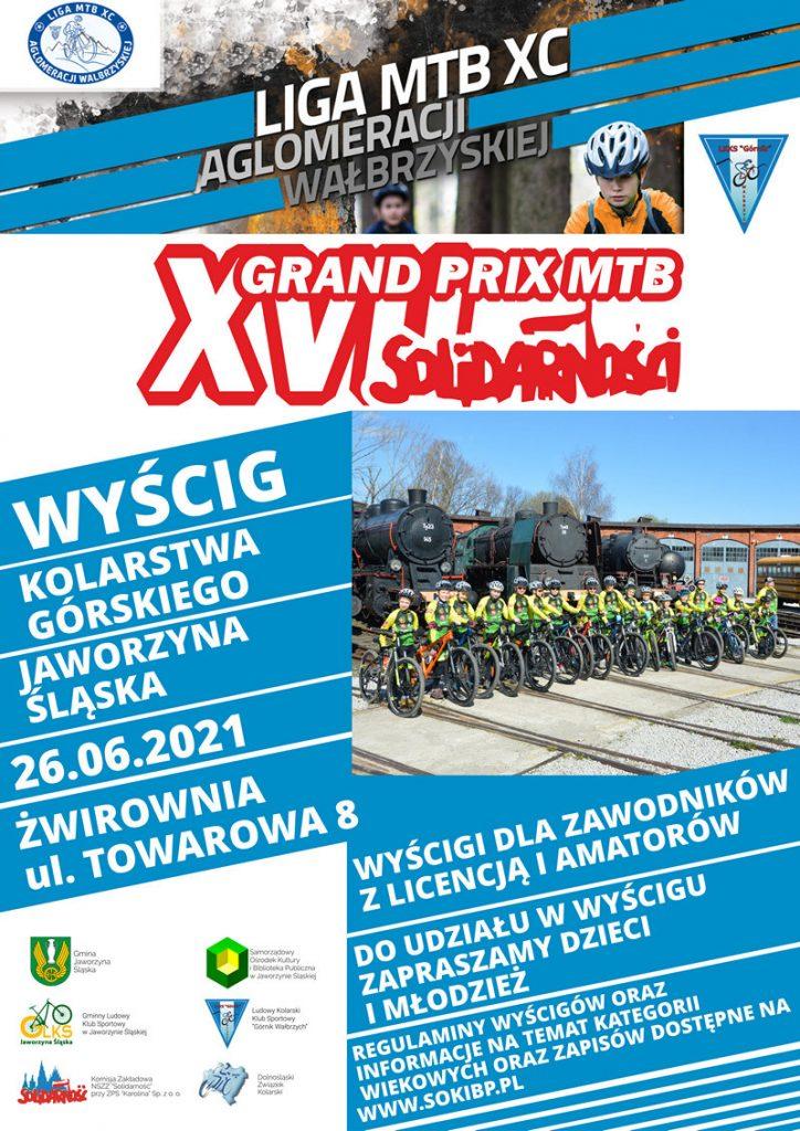 Plakat XVII GRAND PRIX MTB Solidarności