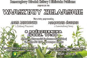 Warsztaty zielarskie @ Centrum Aktywności Społeczno-Kulturalnej